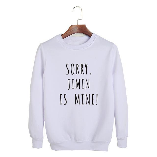 Sorry, BTS is Mine! Pullover JIMIN White / S Gotamochi BTS MERCH BT21 MERCH KAWAII STORE