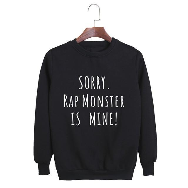 Sorry, BTS is Mine! Pullover RAP MONSTER Black / S Gotamochi BTS MERCH BT21 MERCH KAWAII STORE