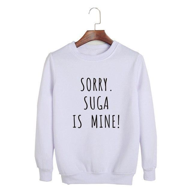 Sorry, BTS is Mine! Pullover SUGA White / S Gotamochi BTS MERCH BT21 MERCH KAWAII STORE