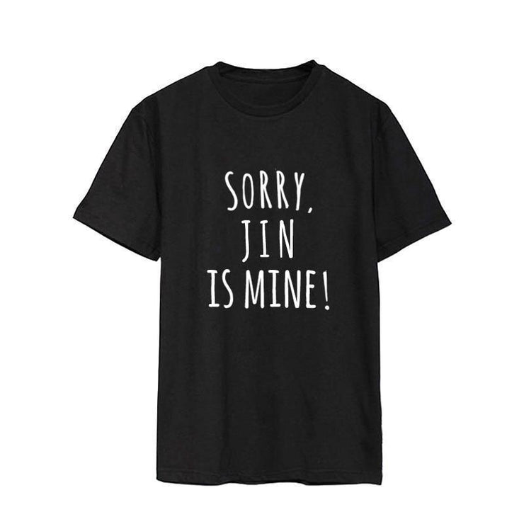 Sorry, BTS is Mine! Tee Gotamochi BTS MERCH BT21 MERCH KAWAII STORE