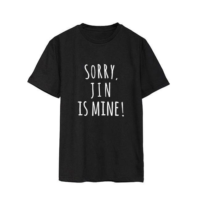 Sorry, BTS is Mine! Tee JIN / S Gotamochi BTS MERCH BT21 MERCH KAWAII STORE