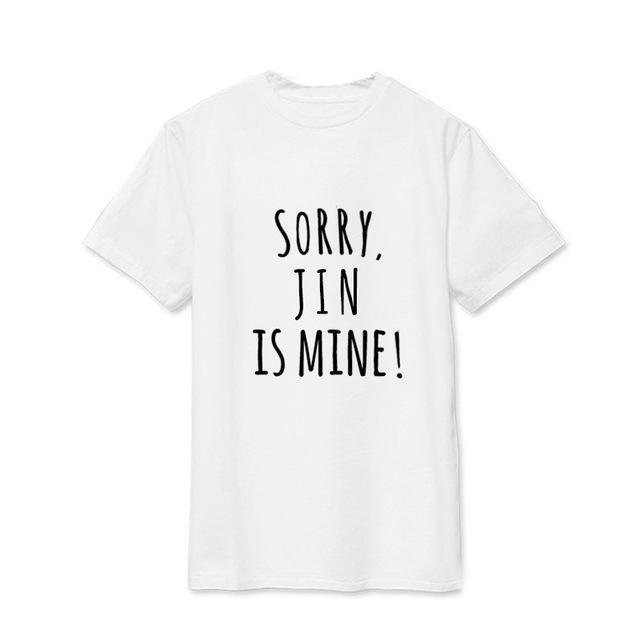Sorry, BTS is Mine! Tee JIN6 / S Gotamochi BTS MERCH BT21 MERCH KAWAII STORE