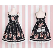 Sweet Lolita Princess Victorian High Waist Dress Kawaii Outfit Black / S Gotamochi BTS MERCH BT21 MERCH KAWAII STORE
