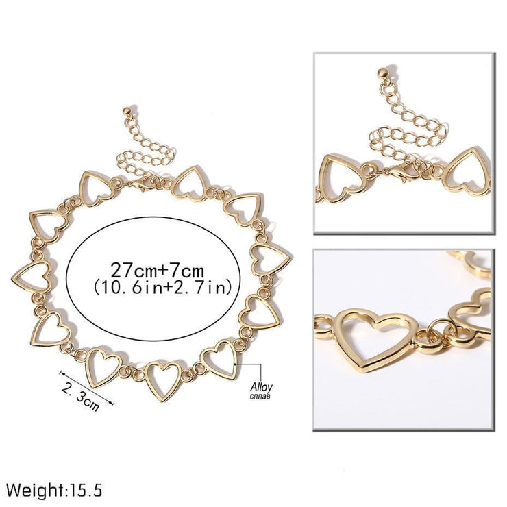Sweet Love Heart Choker Korean Necklace Gotamochi BTS MERCH BT21 MERCH KAWAII STORE