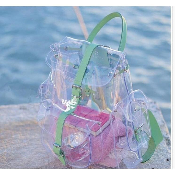 Transparent Kawaii Summer Backpack [2 Colors] Gotamochi BTS MERCH BT21 MERCH KAWAII STORE
