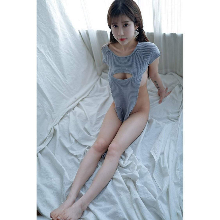 Virgin Killer Sweater 2.0 New Sexy Hollow Chest Lingerie [3 Colors] Gotamochi BTS MERCH BT21 MERCH KAWAII STORE