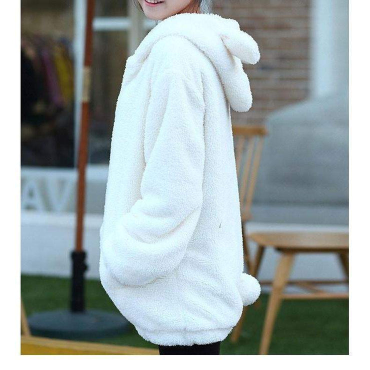 Winter Warm Fluffy Bear Kawaii Hoodie Jacket [3 Colors] Gotamochi BTS MERCH BT21 MERCH KAWAII STORE