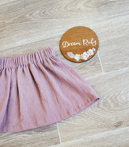Antique pink basic skirt