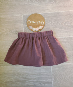 Aubergine basic skirt