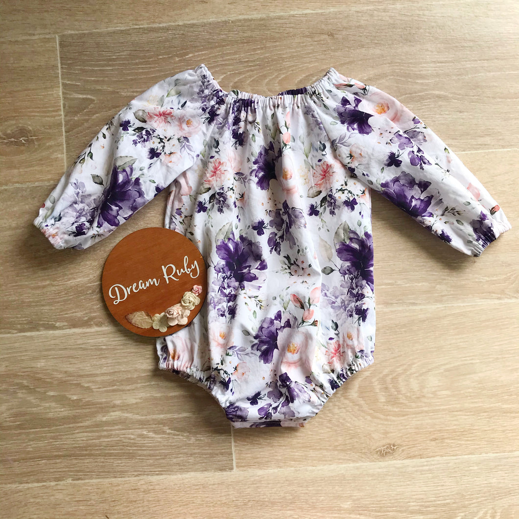PREORDER Ophelia long sleeve playsuit