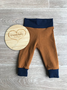 Copper and navy joggers