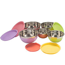 Load image into Gallery viewer, New Home Deal 21 Piece Mixing/ Salad Colored Stainless Steel Bowl Set with Matching Lids