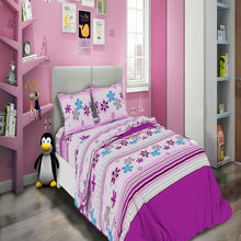 Load image into Gallery viewer, All American Collection Purple-Pink Flowers Printed Bedding Sets