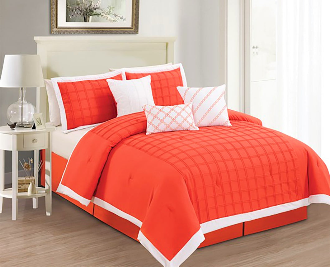 WINDOW 7pc Microfiber Comforter Set (Orange)