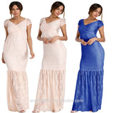 9c7bf3fbfd1 Wish hot selling pregnant female clothing short sleeve off shoulder photography  maternity dress 2018 women casual