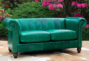 Angelica Settee - Emerald Green