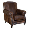 Fireside Chair - Allure Social Brown and Brindle Cowhide