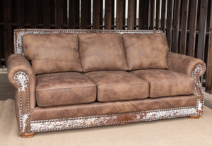 Hamilton Sofa - Branch and Hair on Hide