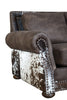 Hamilton Sleeper Sofa - Stallone Timber and Cowhide