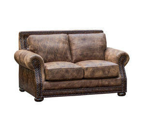Hamilton Loveseat - Stallone Branch and Cosmopolitan Accent Leather