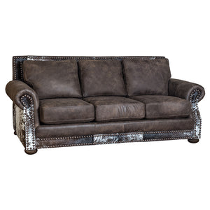 Hamilton Loveseat - Stallone Timber and Cowhide