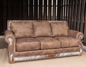 Hamilton Loveseat - Stallone Branch and Hair on Hide
