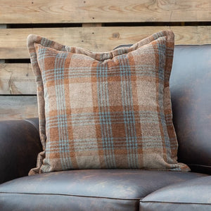 Amber Plaid Pillow
