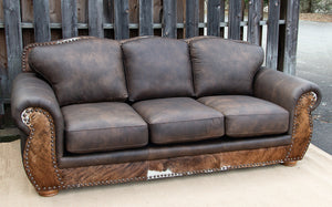Legend Sleeper Sofa - Run Wyld and Hair on Hide