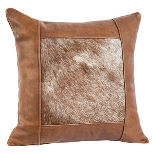 Window Frame Pillow - Warrior Brown Hair on Hide