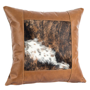 Window Frame Pillow - Pecan Hair on Hide