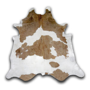 Brown and White Spotted Cowhide