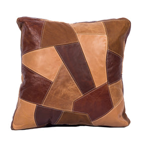 Genuine Leather Patchwork Pillow Covers