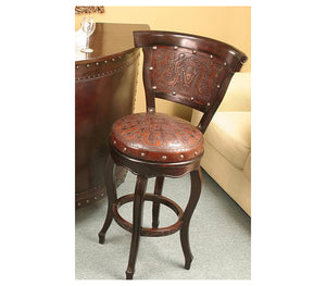 Spanish Heritage Barstool with Back & Swivel