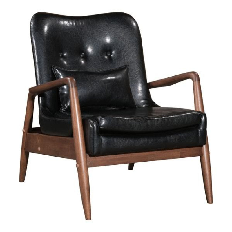 Bully Lounge Chair & Ottoman Black