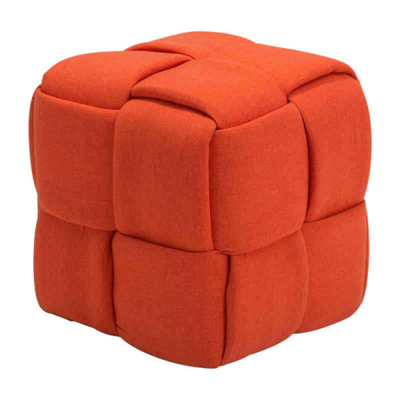 Checks Stool Orange