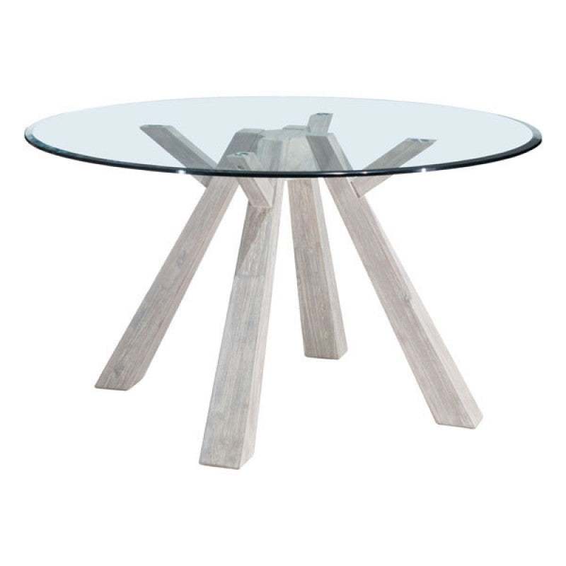 Beaumont Glass Round Dining Table