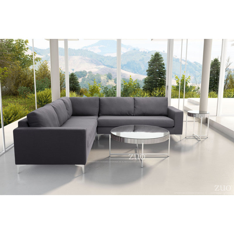 Ruskin Sectional Charcoal Gray