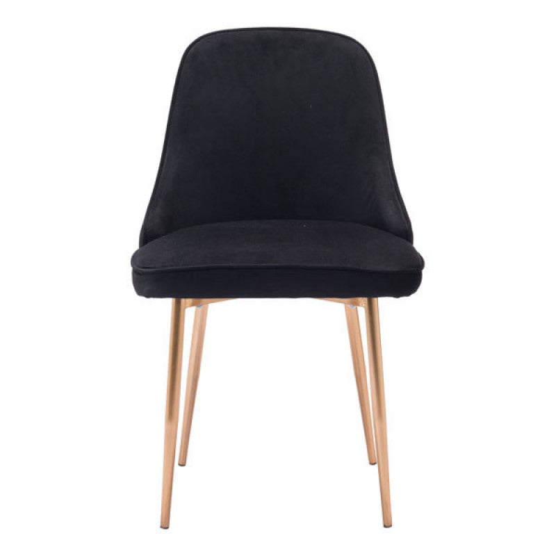 Merritt Dining Chair Black Velvet