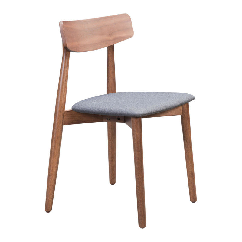Newman Dining Chair Walnut & Dark Gray