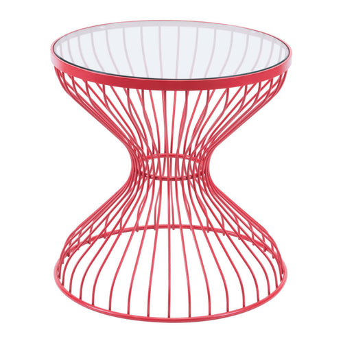 Rose Side Table Red