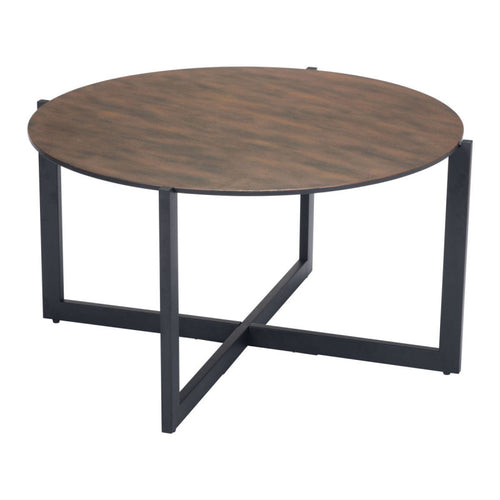 Hastings Coffee Table Rust & Matt Black