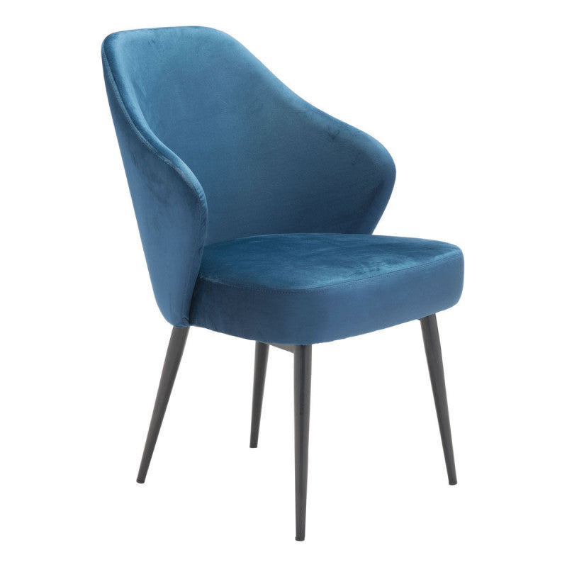 Savon Dining Chair Navy Velvet