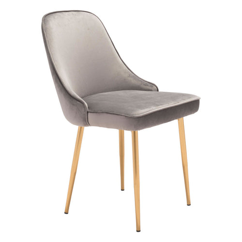 Merritt Dining Chair Gray Velvet