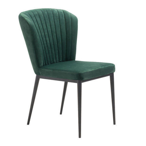 Tolivere Dining Chair Green Velvet
