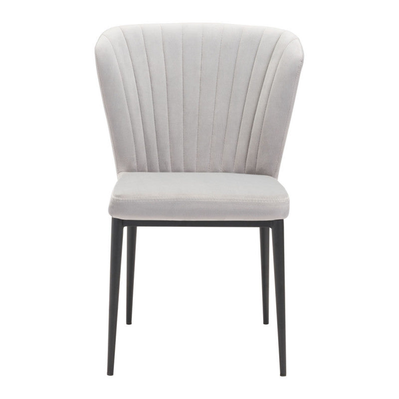 Tolivere Dining Chair Gray Velvet