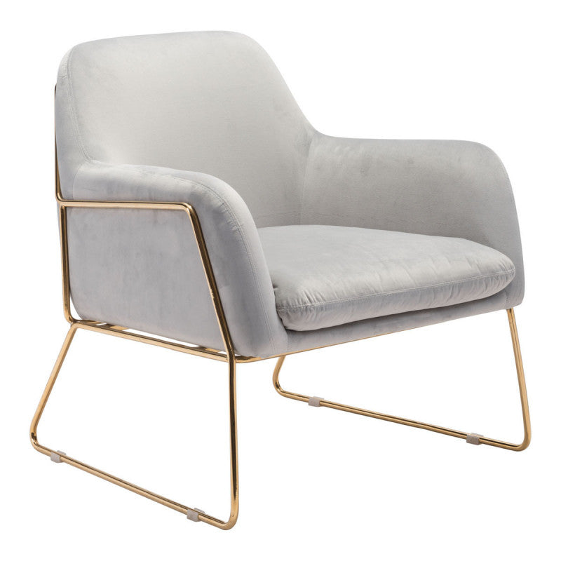 Nadir Arm Chair Gray Velvet