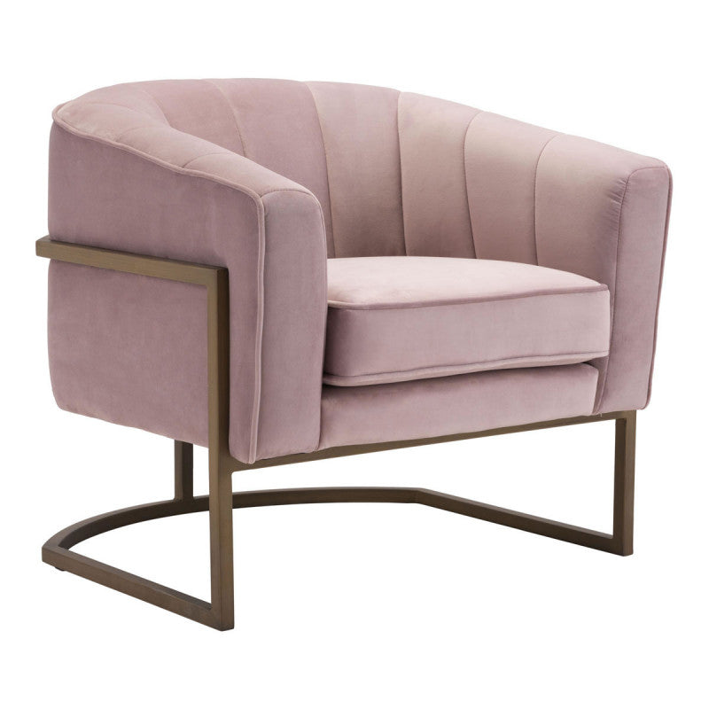 Lyric Occasional Chair Pink Velvet