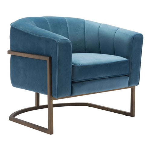 Lyric Occasional Chair Blue Velvet