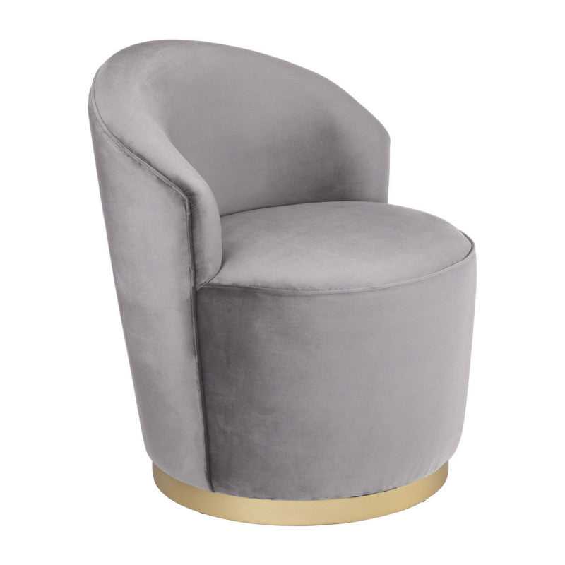 Zoey Arm Chair Gray Velvet