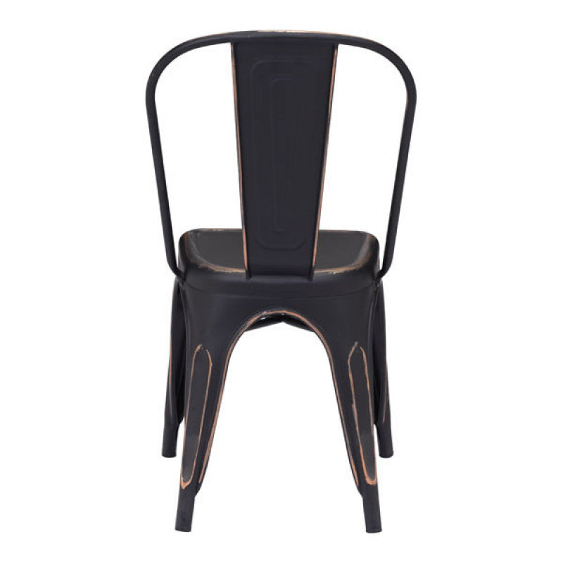 Elio Dining Chair Anti Black Gold